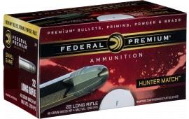 Federal 720 Hunter Match 22 Long Rifle (LR) 40 GR Hunter Match - 50rd Box