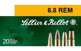 Sellier & Bellot SB68B Rifle Hunting 6.8mm Rem SPC 110 GR PTS (Plastic Tip Special) - 20rd Box