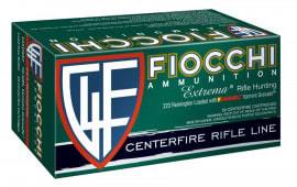 Fiocchi 223VGNT Extrema .223/5.56 NATO 50 GR Hollow Point Flat Base - 50rd Box