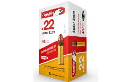Aguila 22LR 40gr Super Extra High Velocity Copper Plated, Solid Point Ammo 1B222328 - 500rd Brick