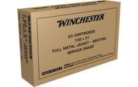 Winchester Ammo SG76251W 7.62X51 147 BT - 20rd Box