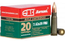 Barnaul 762X39FMJ123 7.62x39 123 FMJ 500rd - 500rd Case
