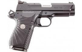 "Wilson Combat EDCX9 1911 EDC X9 Single 4"" 15+1 Black G10 Grip Black Stainless Steel"