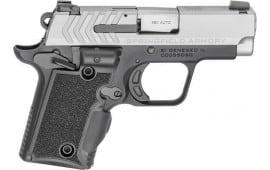 "Springfield Armory PG9109SVG 911 380 ACP Single 2.7"" 6+1/7+1 Black/Gray G10 w/Viridian Green Laser Grip Stainless Steel"