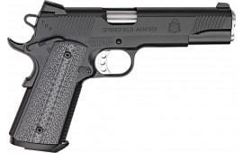 "Springfield Armory PC9108LCA 1911 *CA Compliant* Single 5"" 7+1 Black/Gray G10 Grip Black Armory Kote"