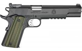 "Springfield Armory PC9610RMR18 1911 TRP RMR Single 6"" 8+1 Dirty Olive G10 Grip Black"
