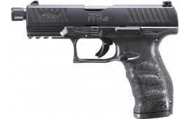 """Walther Arms 2829231 PPQ M2 SD Double 4.9"""" 12+1 Black Interchangeable Backstrap Grip Black"""