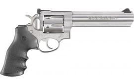 "Ruger 1764 GP100 Standard DA/SA 6"" 7 rd Black Hogue Monogrip Grip Stainless Steel Revolver"