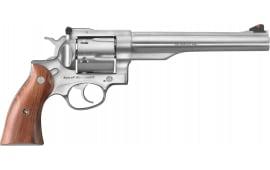 "Ruger 5001 Redhawk DA/SA 7.5"" 6 rd Hardwood Grip Stainless Steel Revolver"