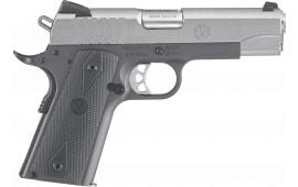 "Ruger 6722 SR1911 Stainless Steel Single 4.25"" 9+1 Black Rubber Grip Gray Frame Stainless Steel"