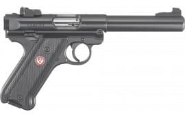 """Ruger 40101 Mark IV Target Single 5.5"""" 10+1 Black Synthetic Grip Blued Steel"""