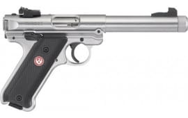 """Ruger 40126 Mark IV Target Single 5.5"""" 10+1 Black Synthetic Grip Stainless Steel"""