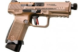 "Century Arms TP9 Elite Semi-Automatic Combat Pistol 9mm 1-15 & 1-18rd Magazine 4.98"" Threaded Barrel - FDE - HG4617D-N"