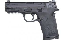 "Smith & Wesson 180023 M&P 380 Shield EZ Double 3.675"" 8+1 Black Polymer Grip/Frame Grip Black Armornite Stainless Steel"