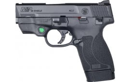 Smith & Wesson 12089 Shield M&P45 FS w/CTC Green Laser Thumb Safety