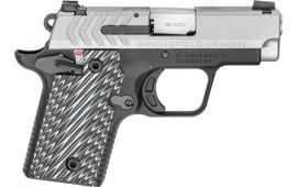"Springfield Armory PG9109S 911 380 ACP Single 2.7"" 6+1/7+1 Black/Gray G10 Grip Stainless Steel"