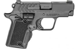 "Springfield Armory PG9109VG 911 380 ACP Single 2.7"" 6+1/7+1 Black G10 w/Viridian Green Laser Grip Black Nitride"