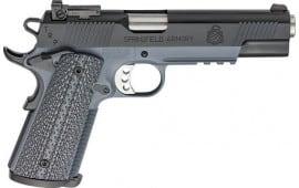 "Springfield Armory PC9105GL18 1911 TRP Single 5"" 7+1 Black/Gray G10 Grip Black Carbon Steel"