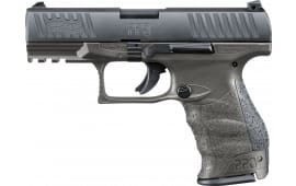 "Walther Arms 2823462 PPQ M2 Tungsten Gray *Exclusive* DA/SA 4"" 15+1 Black Interchangeable Backstrap Grip Tungsten Gray Frame Black Slide"
