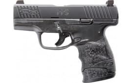 "Walther Arms 2805961TNS PPS M2 with Tritium Night Sights Double 3.18"" 7+1 Black Polymer Grip/Frame Black Tenifer"