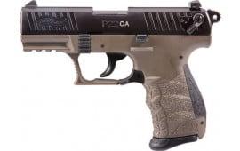 "Walther 5120363 P22 CA .22LR 3.42"" AS10rdBlack Slide FDE Frame"