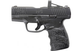 "Walther Arms 2805961RMS PPS M2 with RMSc Optic Double 3.18"" 7+1 Black Polymer Grip/Frame Grip Black Tenifer"