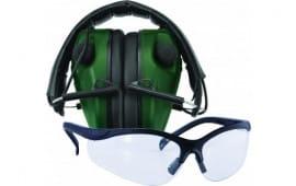 Caldwell Shooting 487309 E-Max Lo Pro Elec Muff w/Shooting Glasses