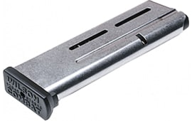 Wilson Combat 5009 1911 Elite Tactical Magazine 9mm Luger 10 rd Stainless Steel Finish ETM Base Pad