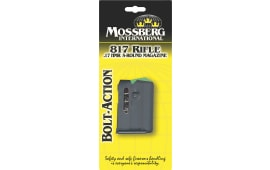 Mossberg 95887 817 Bolt Action 17 Hornady Magnum Rimfire (HMR) 5rd 802/817/801 817 Bolt Action Steel Blued Finish
