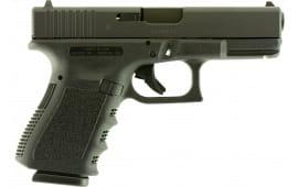 "Glock UI1950203 G19 Compact Double 4.01"" 15+1 Black"