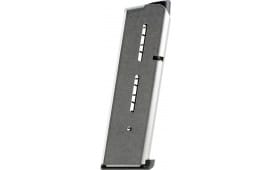 Wilson Combat 47DC 1911 45 ACP 8rd Stainless Steel Finish Low-Profile Base Pad
