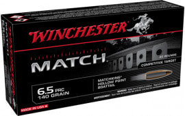 Winchester Ammo PRC Match 6.5PRC 140 GR Boat Tail Hollow Point 20/2 - 20rd Box