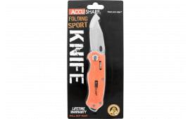FPI 709C Accusharp Folding Sport Knife BLZ ORG