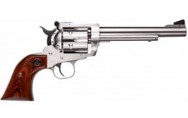 "Ruger 0319 Blackhawk Single 6.5"" 6rd Hardwood Grip Stainless Steel Revolver"