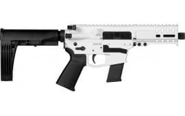 """CMMG 45A69F2SW Banshee Pistol 5"""" 13rd Snow White M-LOK Brace"""