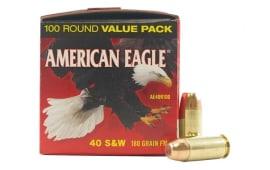 American Eagle 40 S&W 180gr FMJ Ammo, AE40R100 - 100rd Box