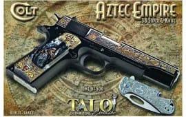 """Colt Defense O1911C-38AZT 1991 .38 Super 5""""9rdAztec Empire 1 OF 500 (TALO)"""