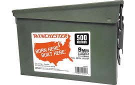 Winchester Ammo WW9C 9mm 115FMJ CAN (2@500) 1000rd - 1000rd Case