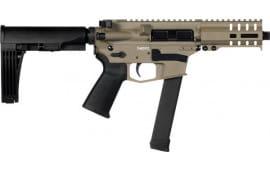 "CMMG 99A178DFDE Banshee Pistol 5"" 33rd FDE M-Lok Brace"