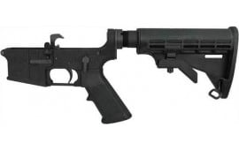 Yankee Hill Machine 128 Assembled Lower Receiver FOR AR-15 w/COLLAPSIBLE Stock