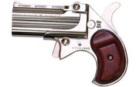 Cobra Derringer Big Bore .380 ACP Caliber Over/Under Chrome / Rosewood #CB380CR