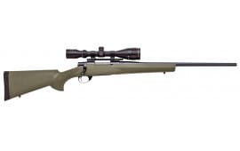 "Howa HGK62108+ Hogue Gameking Scope Package Bolt 243 Winchester 22"" 5+1 Hogue Overmolded Green Stock Blued"