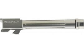 "Agency Arms MLG17T/FSS Mid Line Compatible with Glock 17 9mm 4.48"" Stainless Steel Fluted/Threaded"