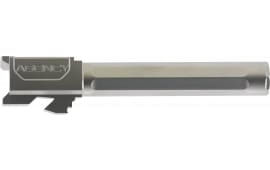 "Agency Arms PLG17FSS Premier Line Compatible with Glock 17 9mm 4.48"" Stainless Steel Fluted/Match Grade"