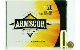 Armscor FAC3803N 380 Auto 380 ACP 95 GR Jacketed Hollow Point Bx/ Cs - 20rd Box