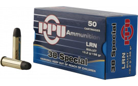 PPU PPH38SL Handgun 38 Special 158 GR Lead Round Nose - 50rd Box