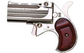 Cobra Derringer Big Bore .380 ACP Caliber Over/Under Chrome / Rosewood #CB380CR