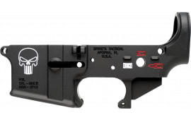Spikes STLS015-CFA Lower Forged Punisher AR Platform Black