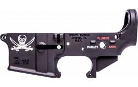 Spikes STLS016-CFA Lower Forged Pirate AR Platform Black