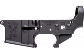 Spikes STLS024 Stripped Lower PHU AR-1 Platform Black Hardcoat Anodized